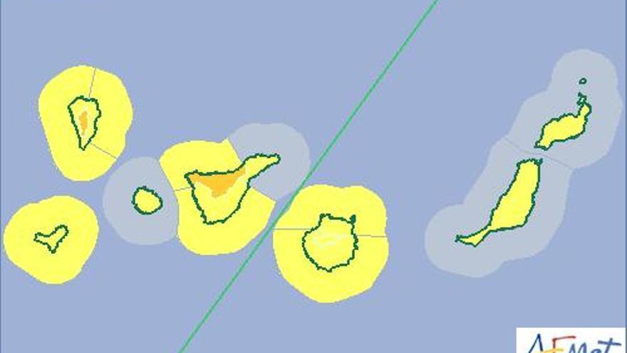 La Aemet activa el aviso naranja por lluvias y vientos