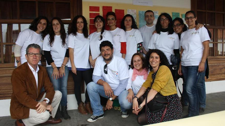 En la imagen, alumnos y profesores del curso de gestión cultural.