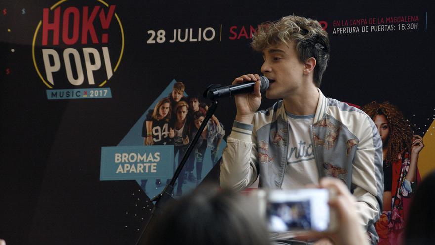 Carlos Marco durante la presentación de Hoky Popi Music 2017.