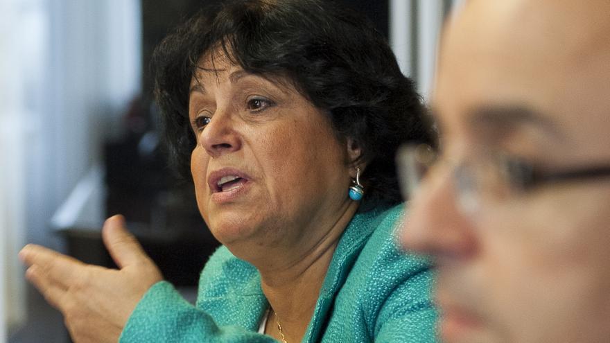 La inspectora de Hacienda, Isabel Espejo, en el encuentro 'Siete siglos de fraude fiscal (1300-2000)'. | UIMP/ Pablo Hojas