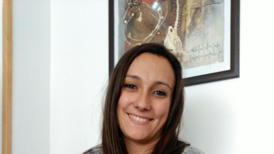 Carolina González, maestra interina desde 2005. Foto cedida.