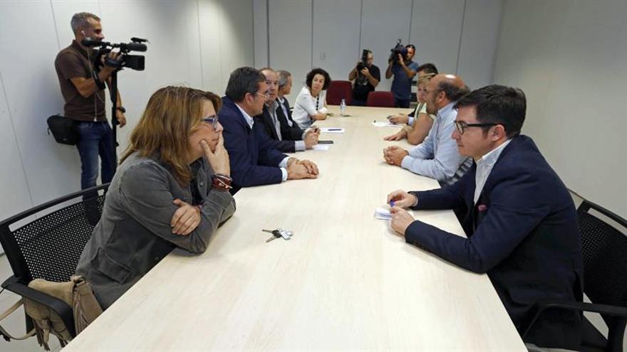 Representantes de las principales asociaciones de jueces y fiscales que se reunieron en Las Palmas de Gran Canaria.