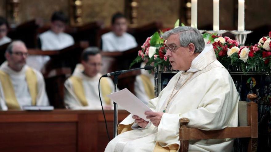 El abad de Montserrat pide perdón en su homilía por los abusos sexuales