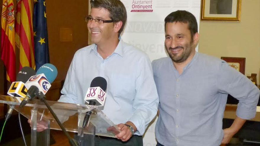Jorge Rodríguez y Vicent Marzà en Ontinyent