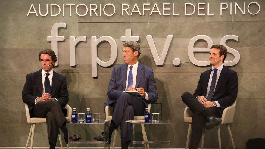 José María Aznar y Pablo Casado en la presentación del libro del expresidente del Gobierno.