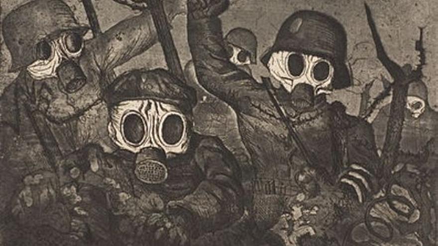 Uno de los cuadros de Otto Dix sobre la guerra