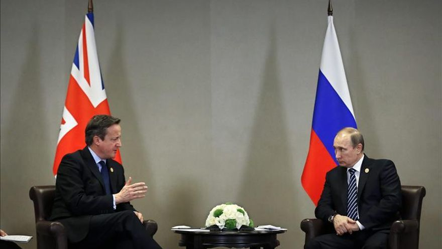 Putin y Cameron abogan por la unidad en la lucha contra el terrorismo