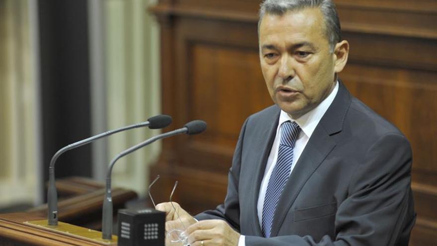 Paulino Rivero, en el Parlamento de Canarias. (EUROPA PRESS)