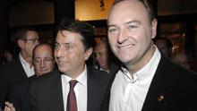 El exconseller de Sanidad, Manuel Cervera,  y el expresidente de la Generalitat, Alberto Fabra, en 2011.