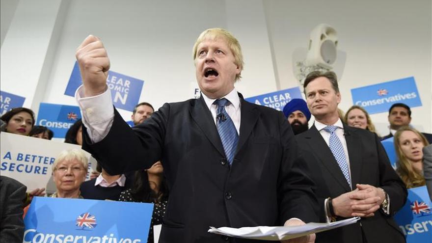 El ministro de Exteriores y partidario del Brexit, Boris Johnson, en la campaña de 2015.