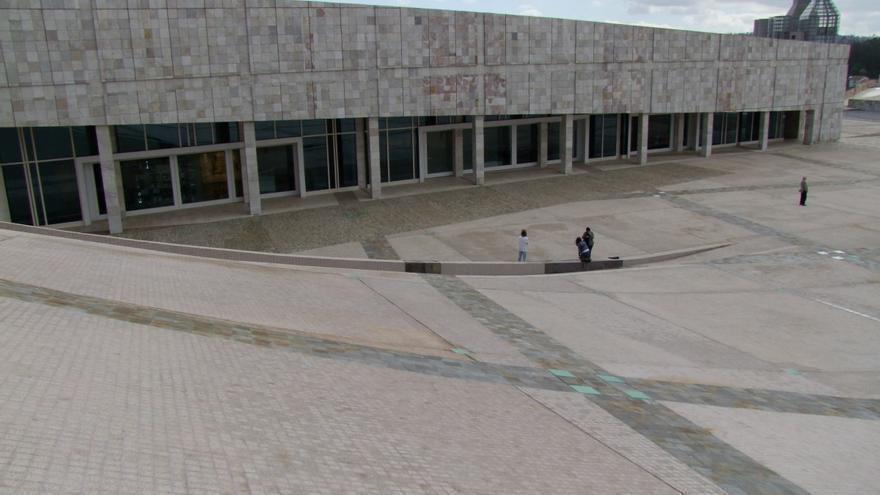 Vista del edificio del Arquivo de Galicia en la Cidade da Cultura