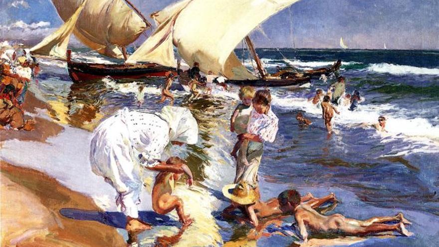 """La playa de Valencia, luz matinal"" (1908), Joaquín Sorolla."