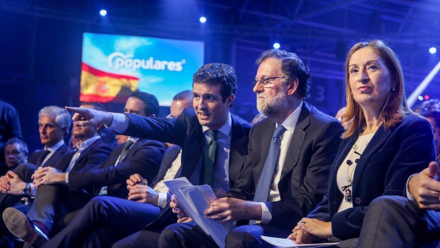 Pablo Casado, Mariano Rajoy y Ana Pastor en la convención ideológica del PP.