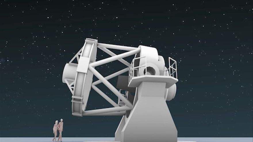 Recreación del New Robotic Telescope (NRT).