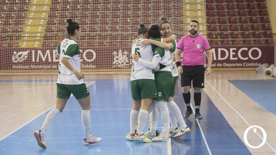 Celebración de un gol del Deportivo Córdoba en Vista Alegre