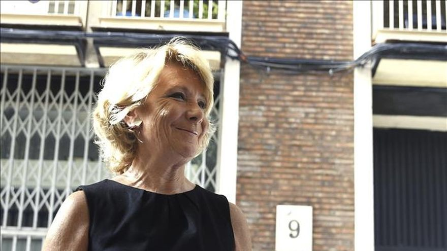 Aguirre anuncia que el PP de Madrid estudia personarse en el caso Púnica