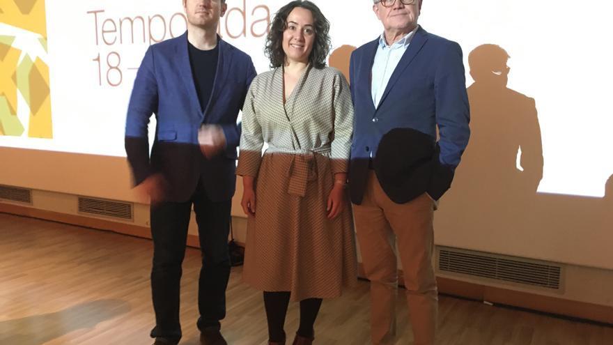 D'esquerra a dreta, Ramon Tebar, Glòria Tello i Vicent Ros.