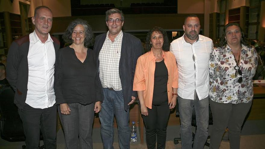 Los seis concejales de Las Palmas de Gran Canaria Puede. (ALEJANDRO RAMOS)
