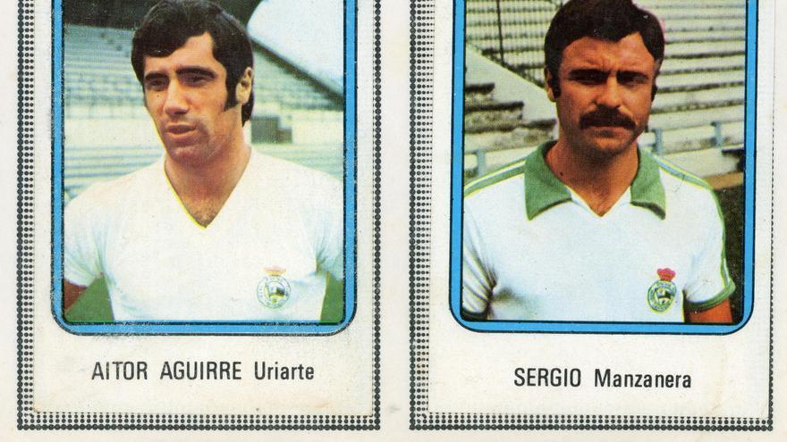 Cromos de un álbum de la Liga de Primera División en la temporada 1975-1976.   DESMEMORIADOS