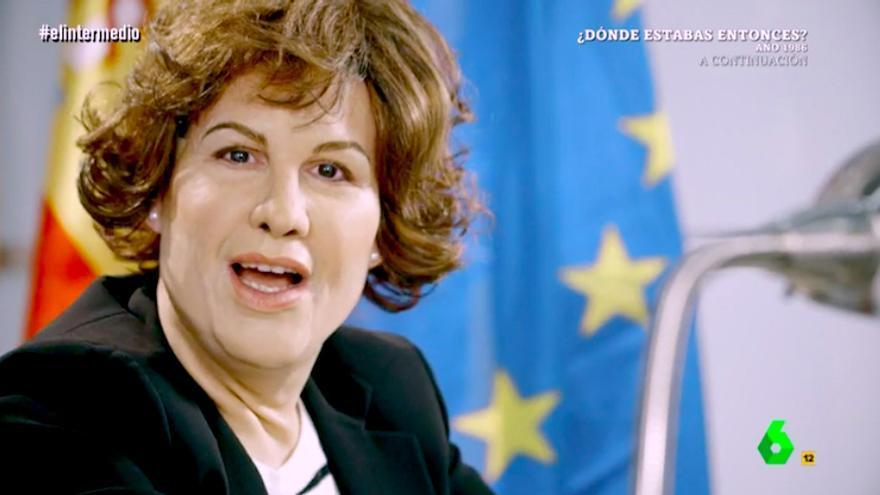 """Joaquín Reyes se convierte en Soraya Sáenz de Santamaría: """"Conmigo las elecciones son la 'rave' de la democracia"""""""