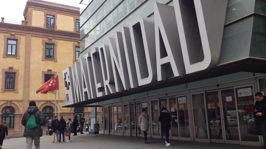 Entrada a la Maternidad de O'donnell en Madrid.