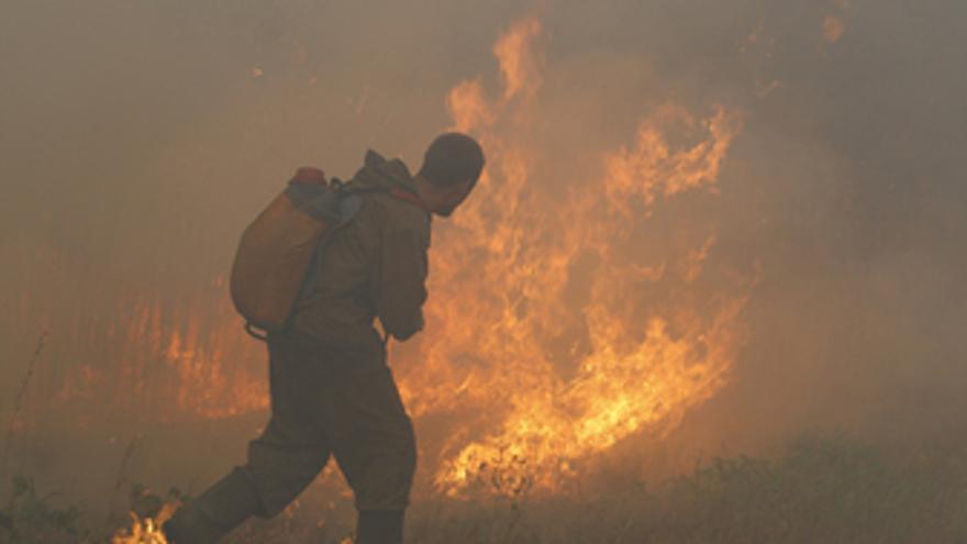 Incendio forestal en Rusia