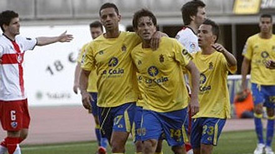 Javi Guerrero anotó el único gol de la UD Las Palmas. (UDLASPALMAS.ES)