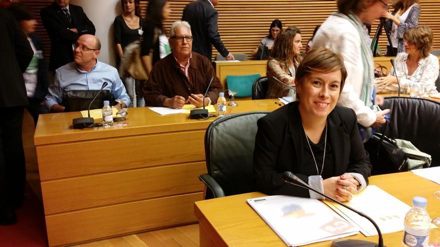 Mercedes Ventura (Ciudadanos), en Les Corts Valencianes.
