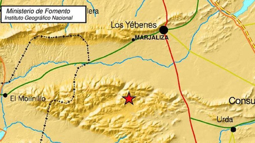 Epicentro del terremoto de Urda, Toledo