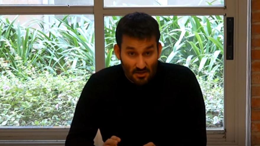 El conseller de Educación, Vicent Marzà, durante la entrevista.