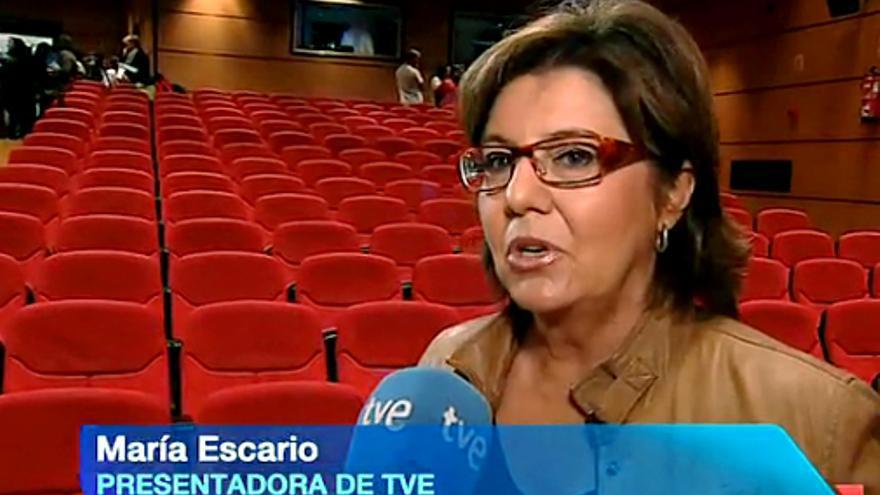 María Escario se sincera en el Telediario sobre su derrame cerebral