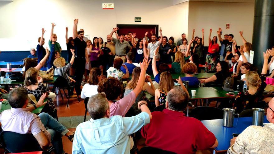 Asamblea de trabajadores en RTVE