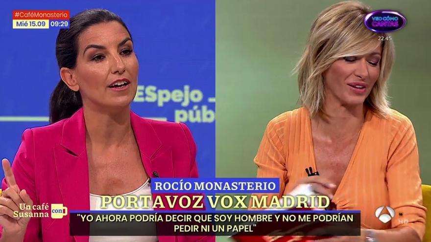 """Nuevo choque entre Susanna Griso y Rocío Monasterio, ahora por las leyes LGTBI: """"Permítame que me ría"""""""