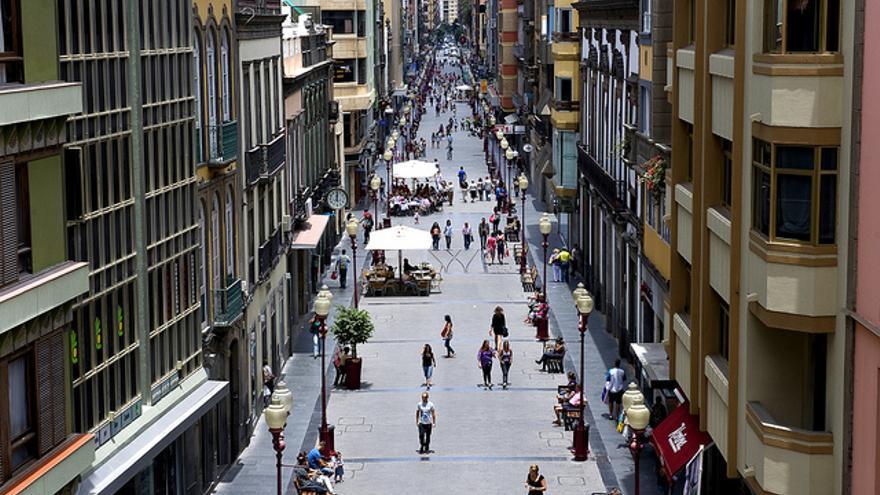 Calle Mayor de Triana en Las Palmas de Gran Canaria