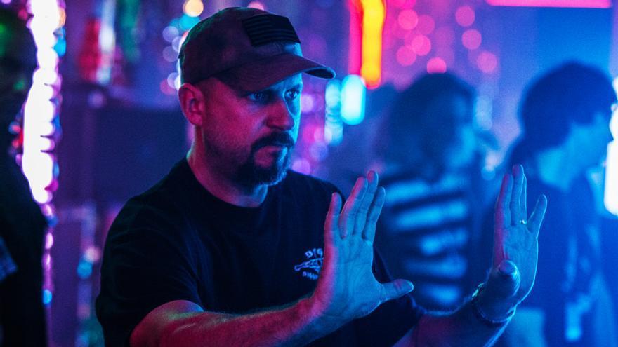 David Ayer en el rodaje de 'Bright'