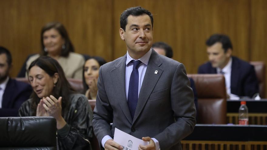 """Moreno teme que las políticas económicas del posible Gobierno PSOE-Podemos """"lastren el progreso"""" de Andalucía"""