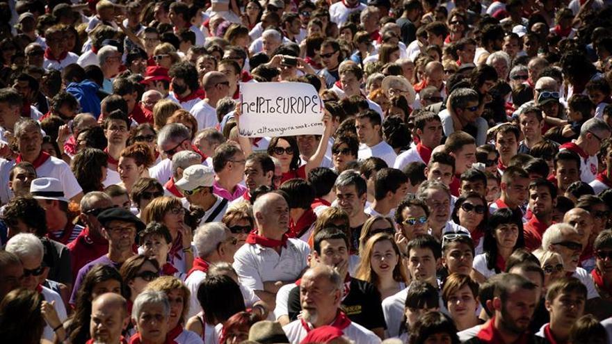 Miles de personas apoyan en Pamplona a los detenidos por los sucesos de Alsasua