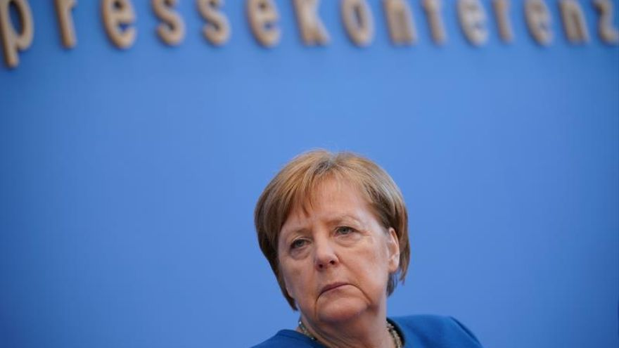 Press conference of German Chancellor Angela Merkel on coronavirus
