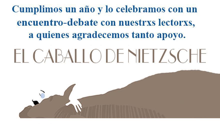 Invitación encuentro-debate con lectores El caballo de Nietzsche