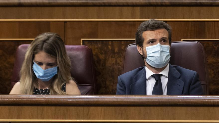 Álvarez de Toledo y Casado, durante una sesión plenaria en el Congreso.