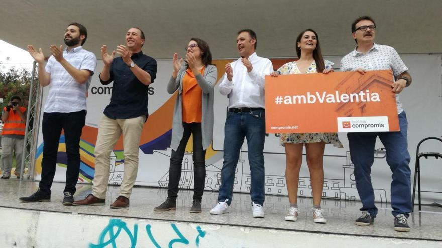 Gerard Fullana, Joan Baldoví, Mónica Oltra, Natxo Bellido, Mireia Mollà i Giuseppe Grezzi a Alacant