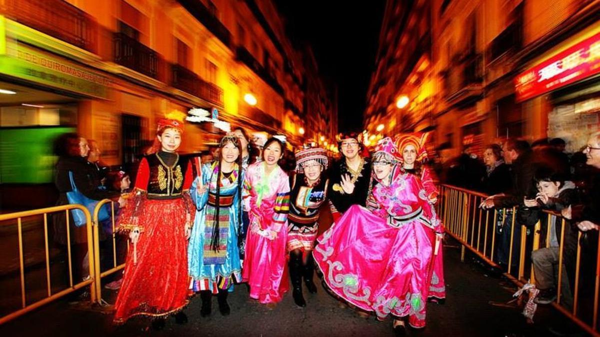 Celebración del año nuevo chino en Valencia organizada por el Instituto Confucio.