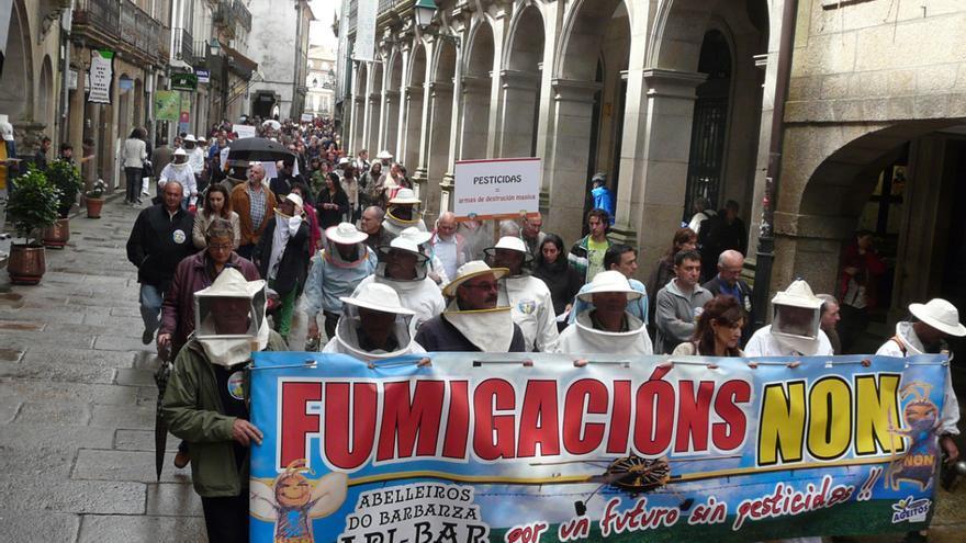 Manifestación contra las fumigaciones en Santiago