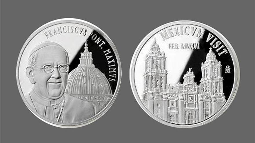 Obsequiarán al papa Francisco monedas conmemorativas por su visita a México