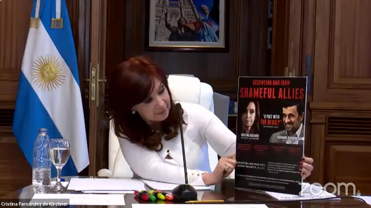 La vicepresidenta durante la audiencia previa al juicio.