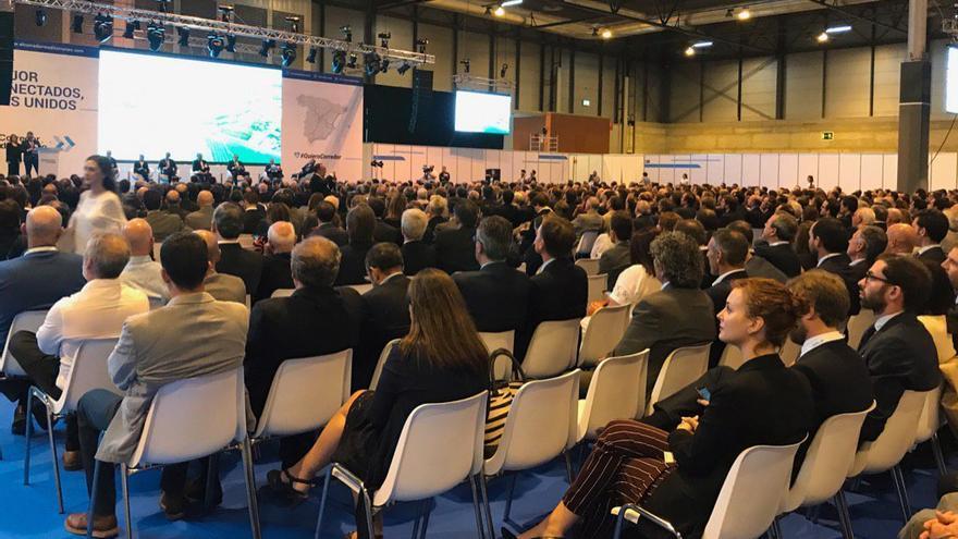 Un instante del acto reivindicativo del Corredor Mediterráneo celebrado en Madrid