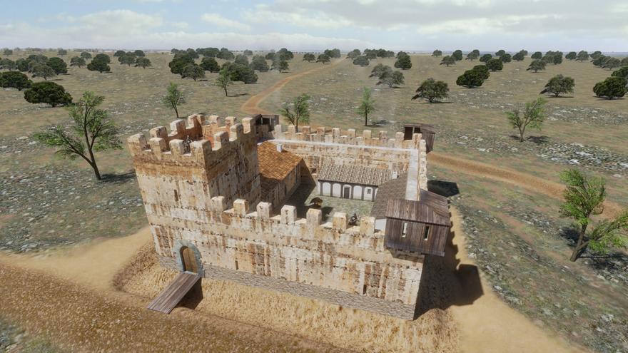 Reconstrucción virtual del castillo de Santa María del Guadiana