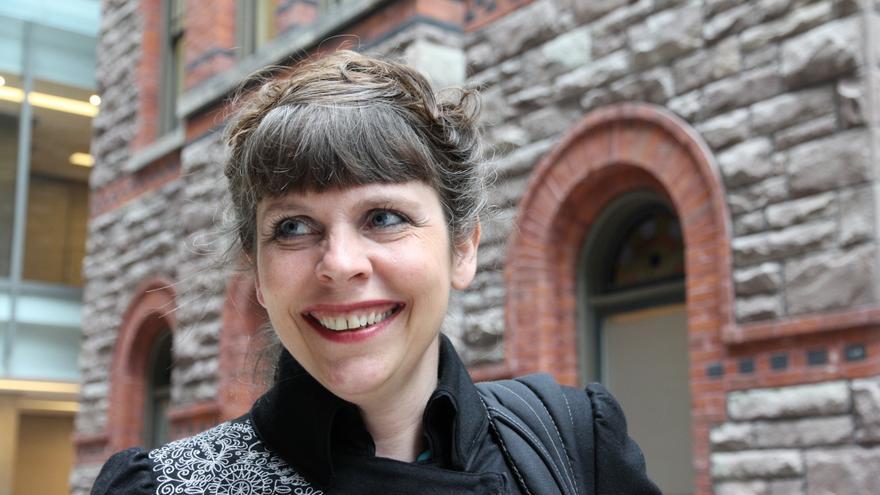 Birgitta Jónsdóttir, líder del Partido Pirata de Islandia.