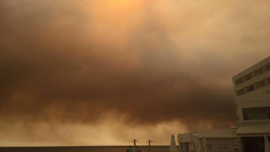 Playa Matalascañas incendio Moguer