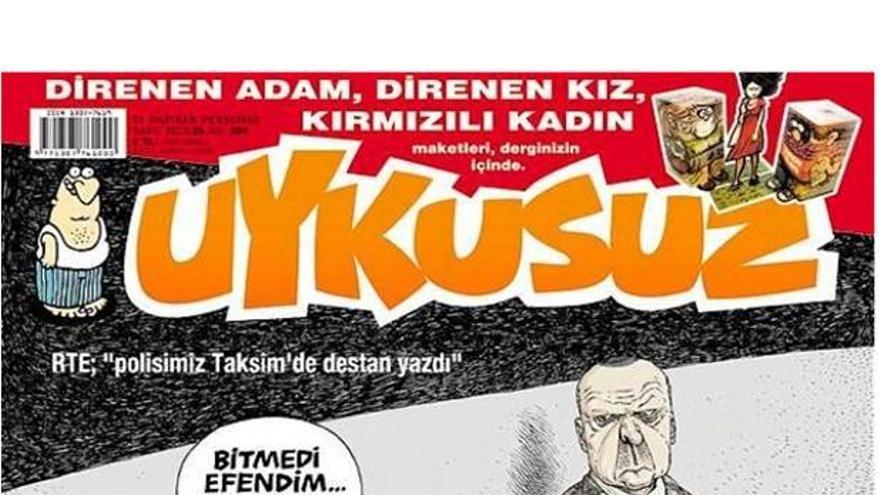 """Uykusuz: """"Nuestra policía ha escrito una leyenda en Taksim""""/ """"Todavía no está terminada, señor, sigo escribiendo"""""""